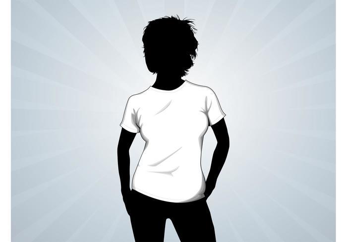 T-Shirt Girl Vector