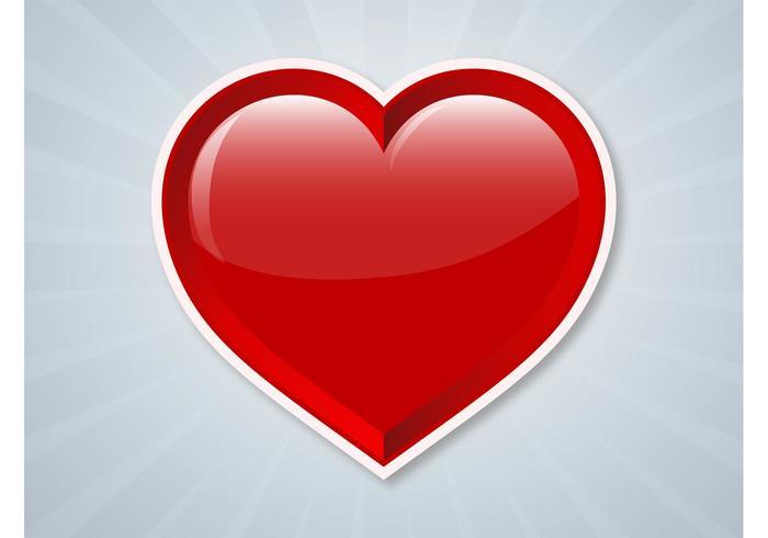 Vector Heart Sticker