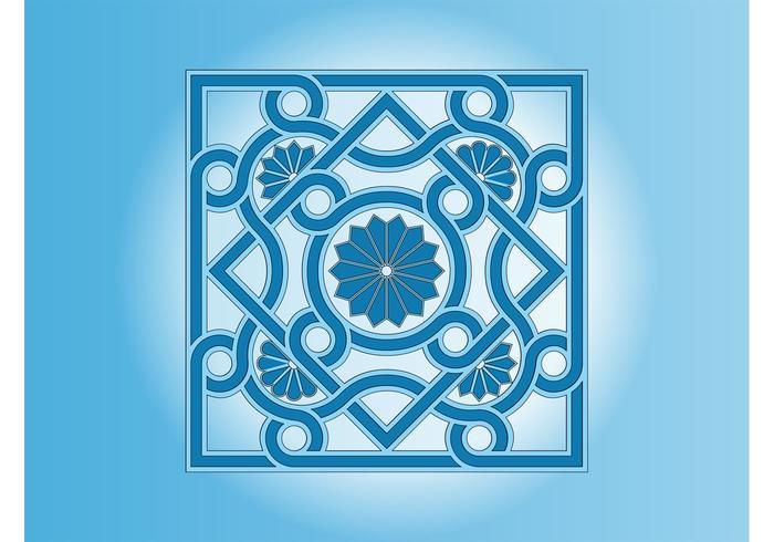 Vector Floral Tile