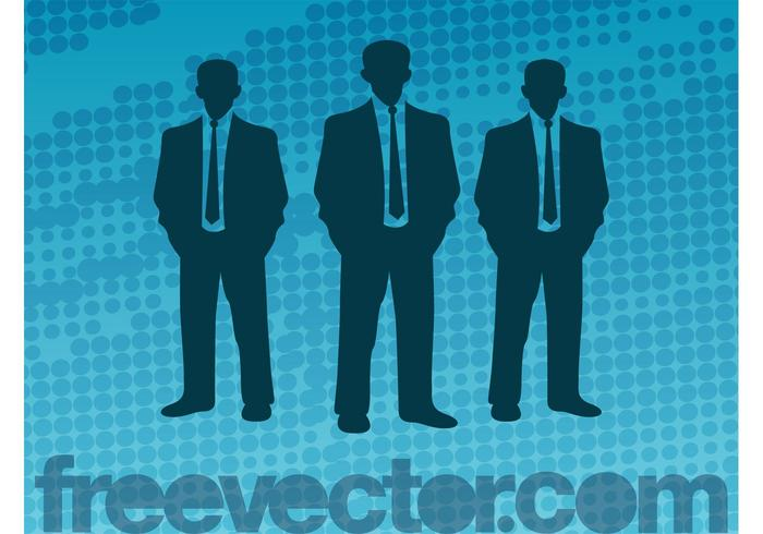 Vector Businessmen Silhouettes
