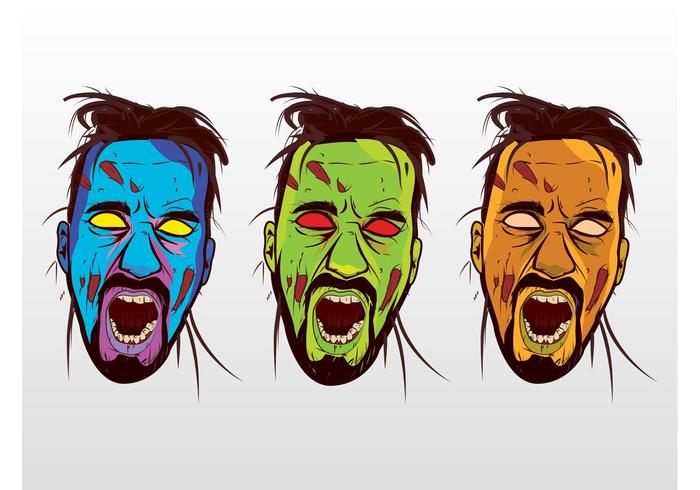 Colorful Vector Zombies
