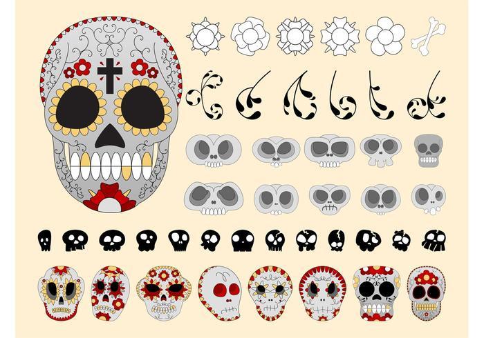 Sugar Skulls Vectors