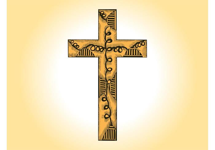 Wooden Cross Vector