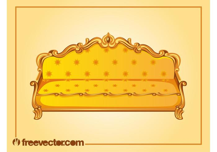 Antique Sofa Vector Download Free Vector Art Stock