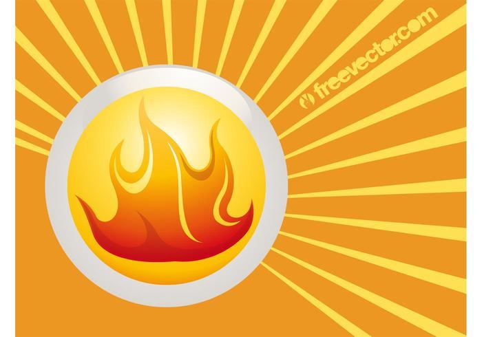 Fire Badge Vector