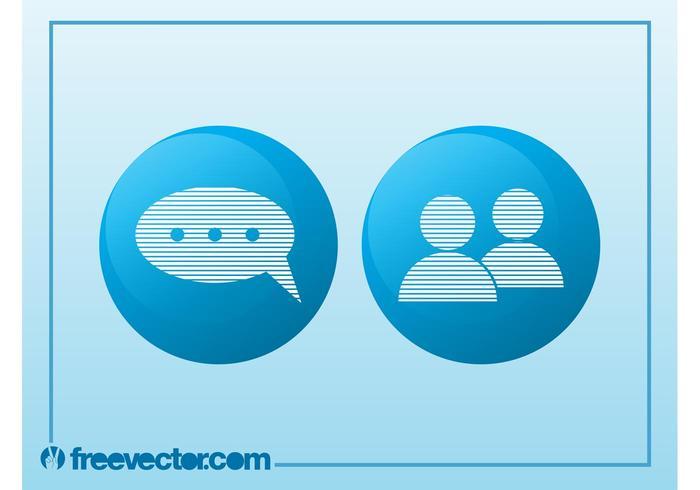 Iconos de Chat