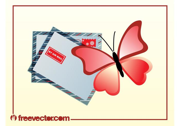 Butterfly Mail Vector