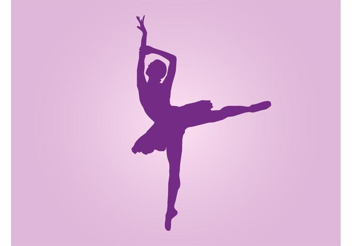 Dancing Ballerina Vector - Download Free Vector Art, Stock ...