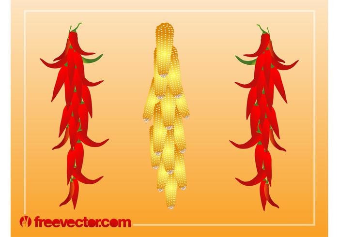 Hanging Vegetables Vector