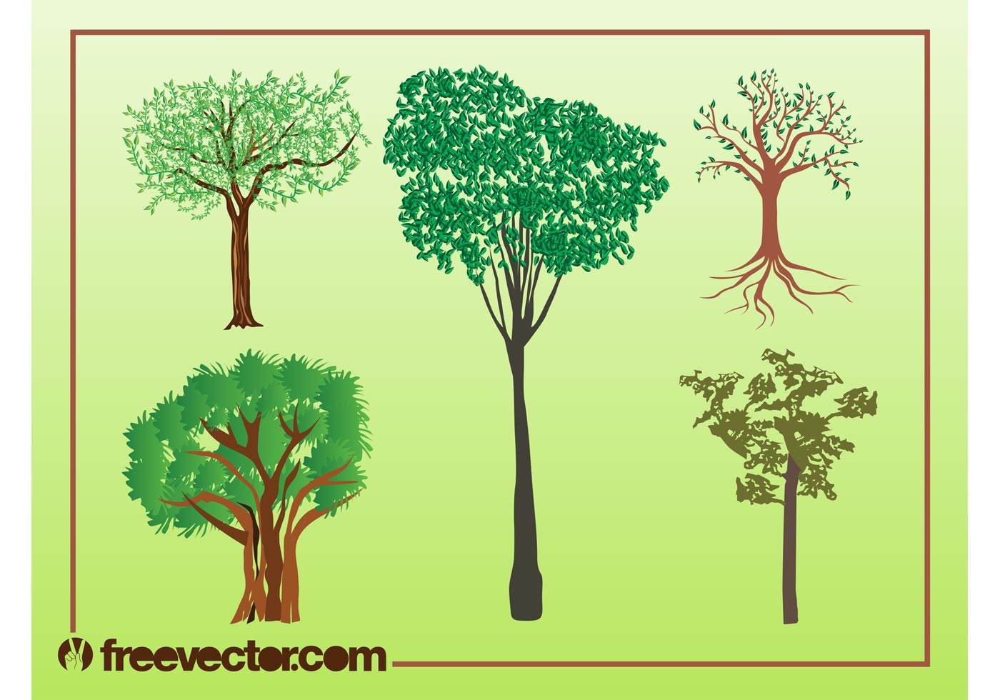 Vector Illustration Tree: Vector Trees Illustrations