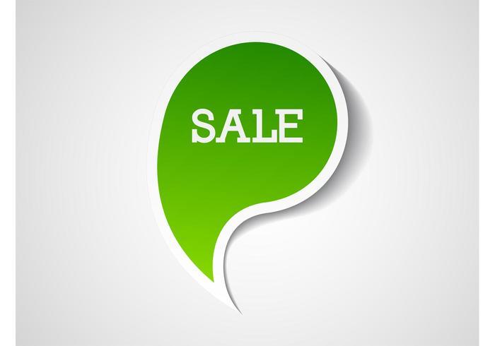 Vector Sale Label