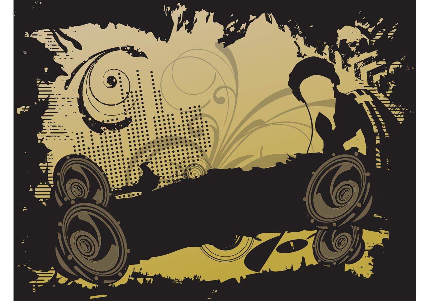 Dj Party Vector Download Free Vector Art Stock Graphics