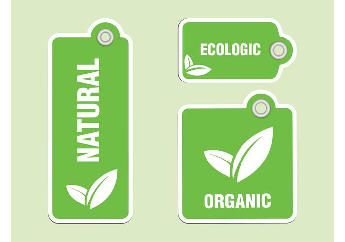 Organic Labels Vectors