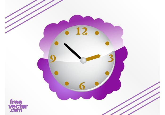 Purple Clock Vector