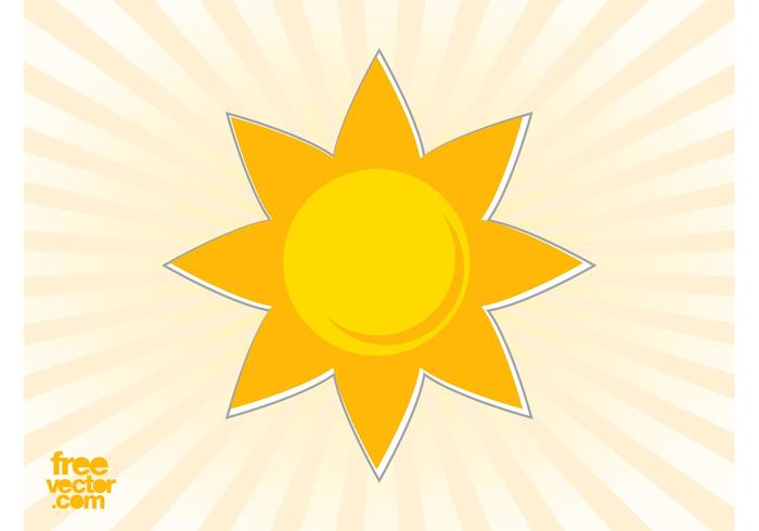 Sun Sticker Vector