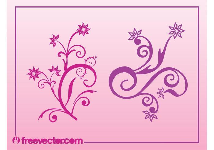 Swirling Flowers Vectors
