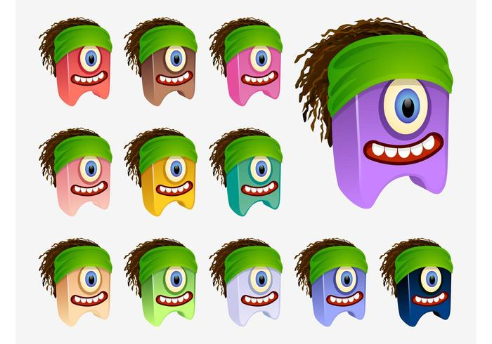 Vector Dreadlocks Characters