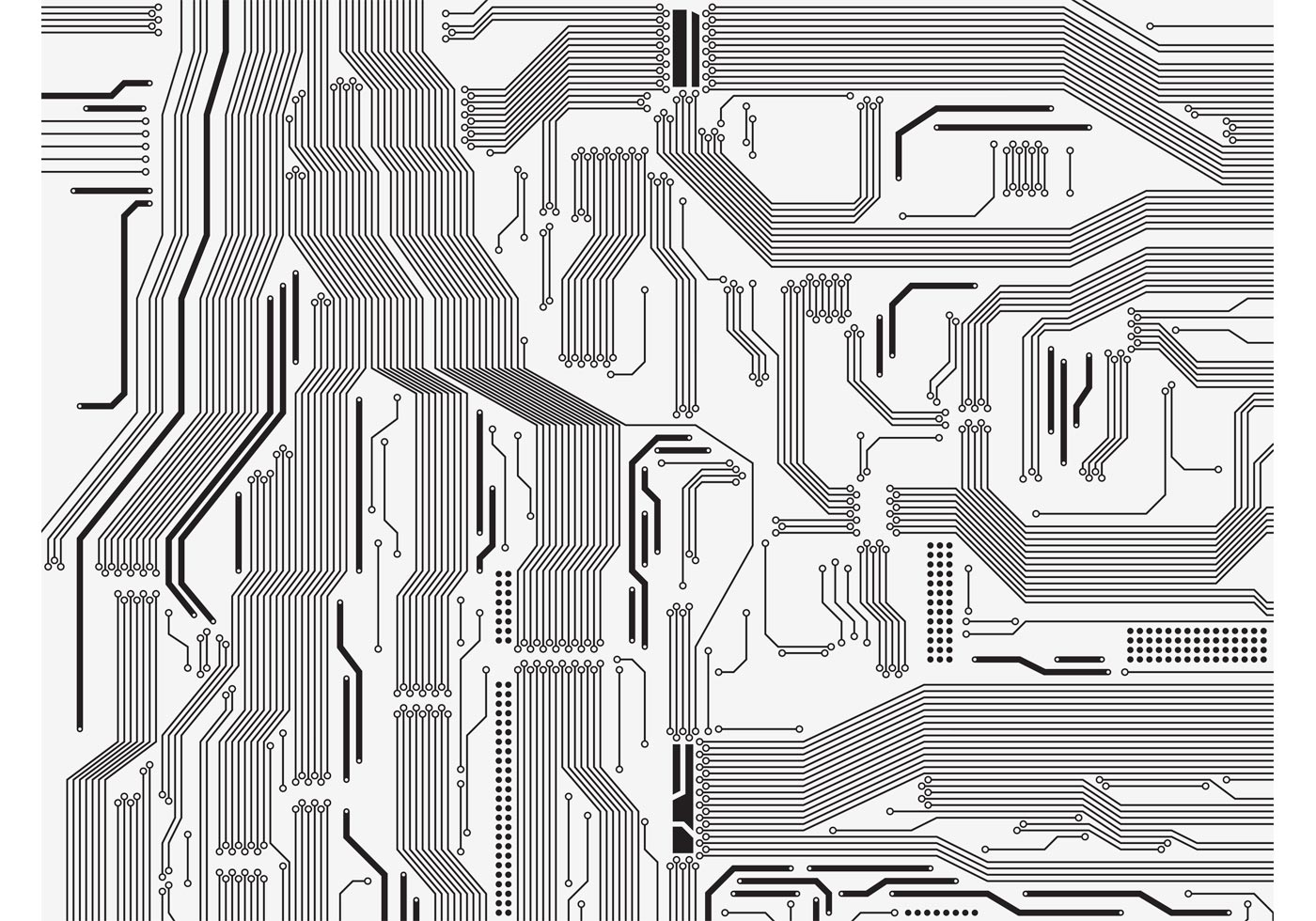 Circuit Board Vector Download Free Art Stock Graphics Images Design Over Green Background Illustration