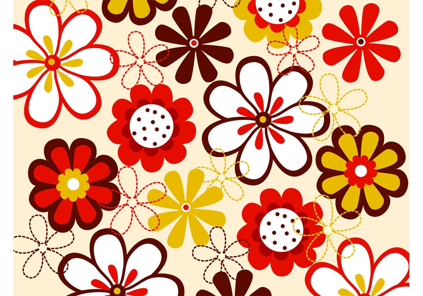 Download Vector Flowers Pattern - Download Free Vector Art, Stock ...