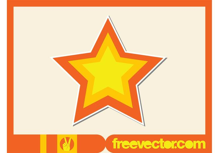 Star Sticker Vector