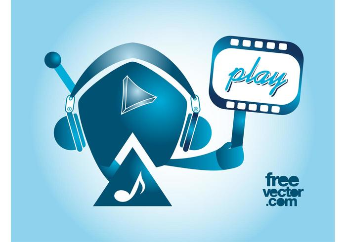 Play Music Vector