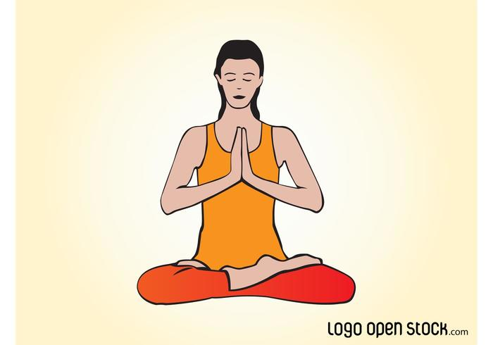 Vector Yoga Woman