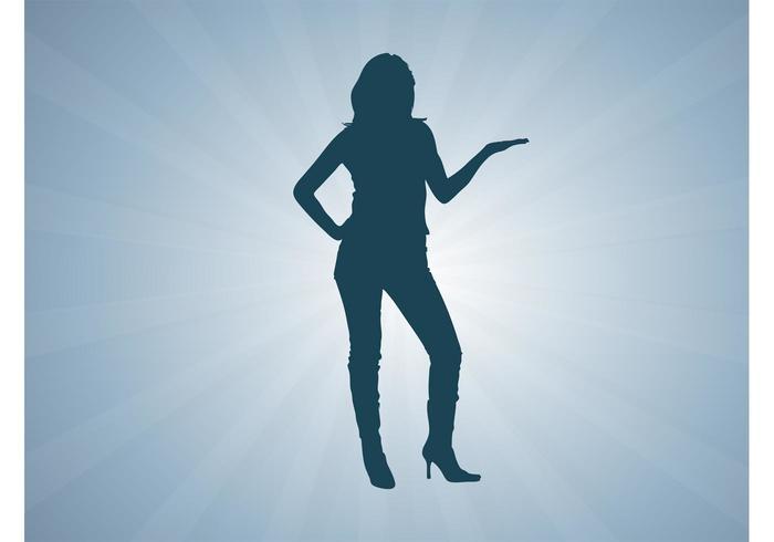 Promoter Girl Vector