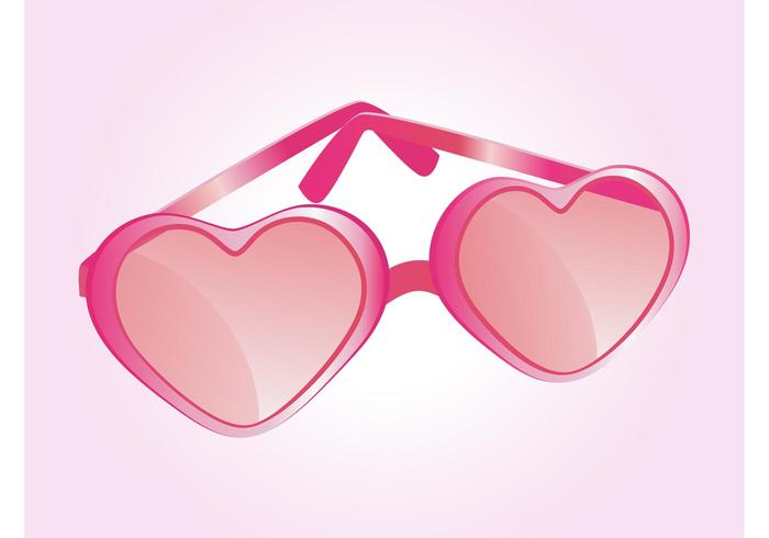 Heart Shaped Glasses Vector
