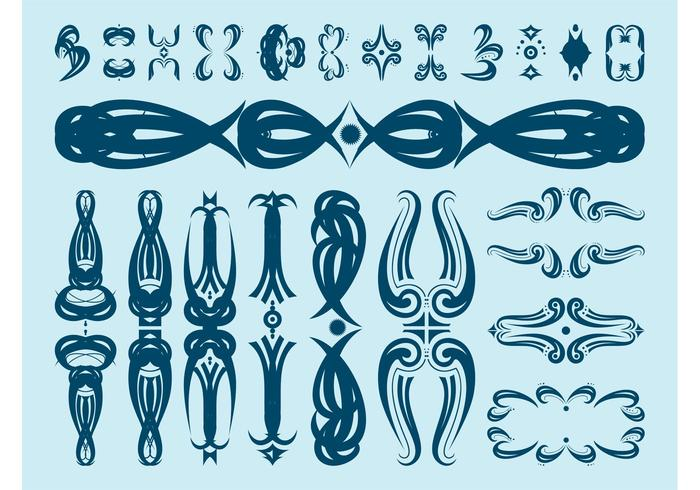Decorative Floral Scrolls