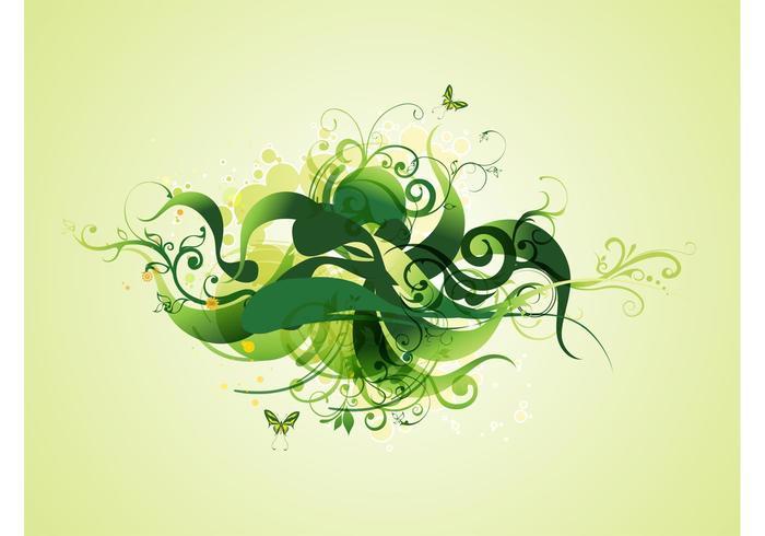 Green Swirling Plants