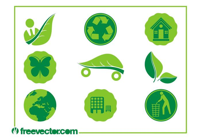 Ecology Icons Vectors