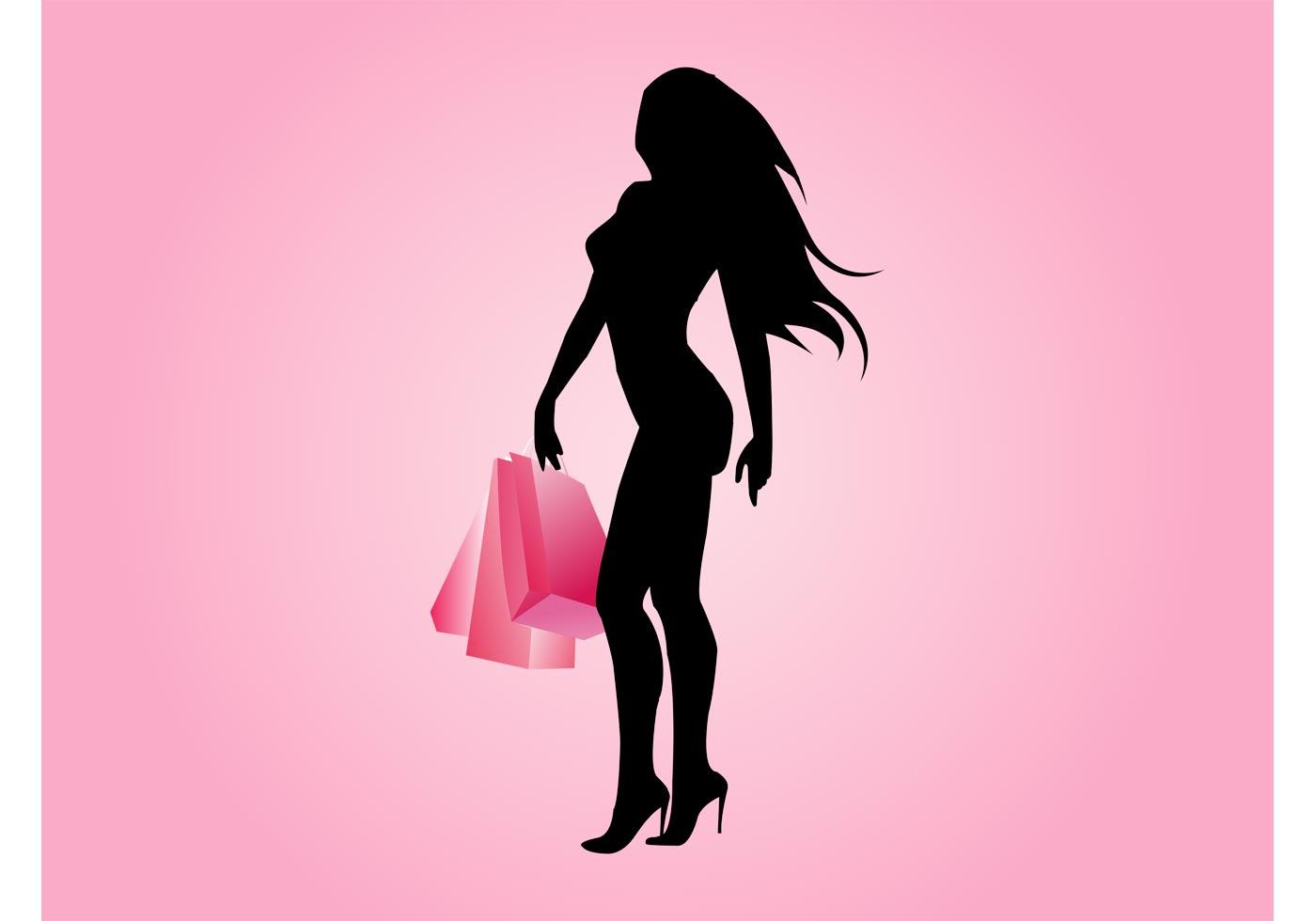 Sexy Shopping Girl Vector - Download Free Vector Art -1004