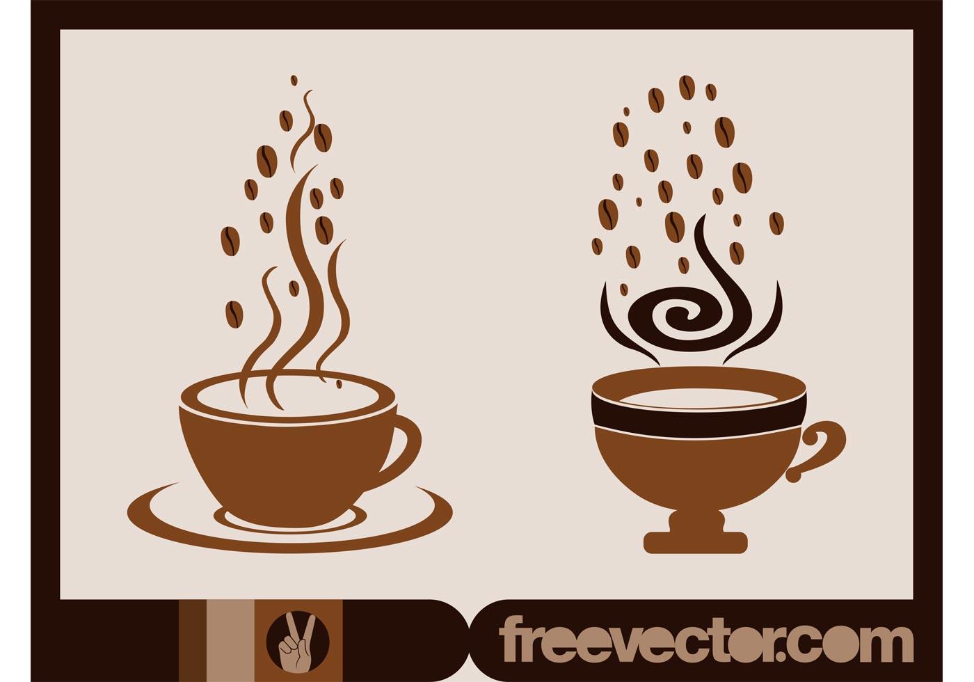 Vector Coffee Cups Download Free Vector Art Stock