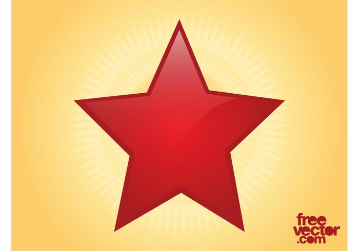 Shiny Red Star