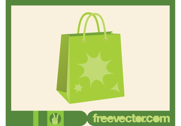 Green Shopping Bag Vector