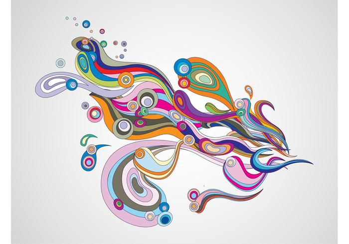 Psychedelic Lines Vector