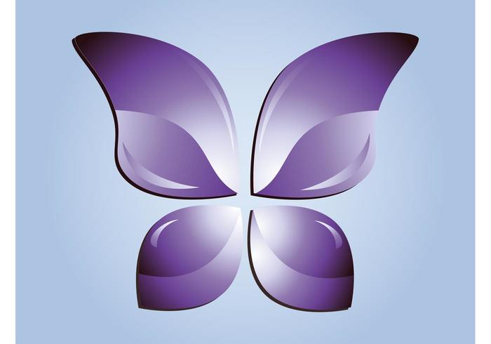 Purple Butterfly Vector