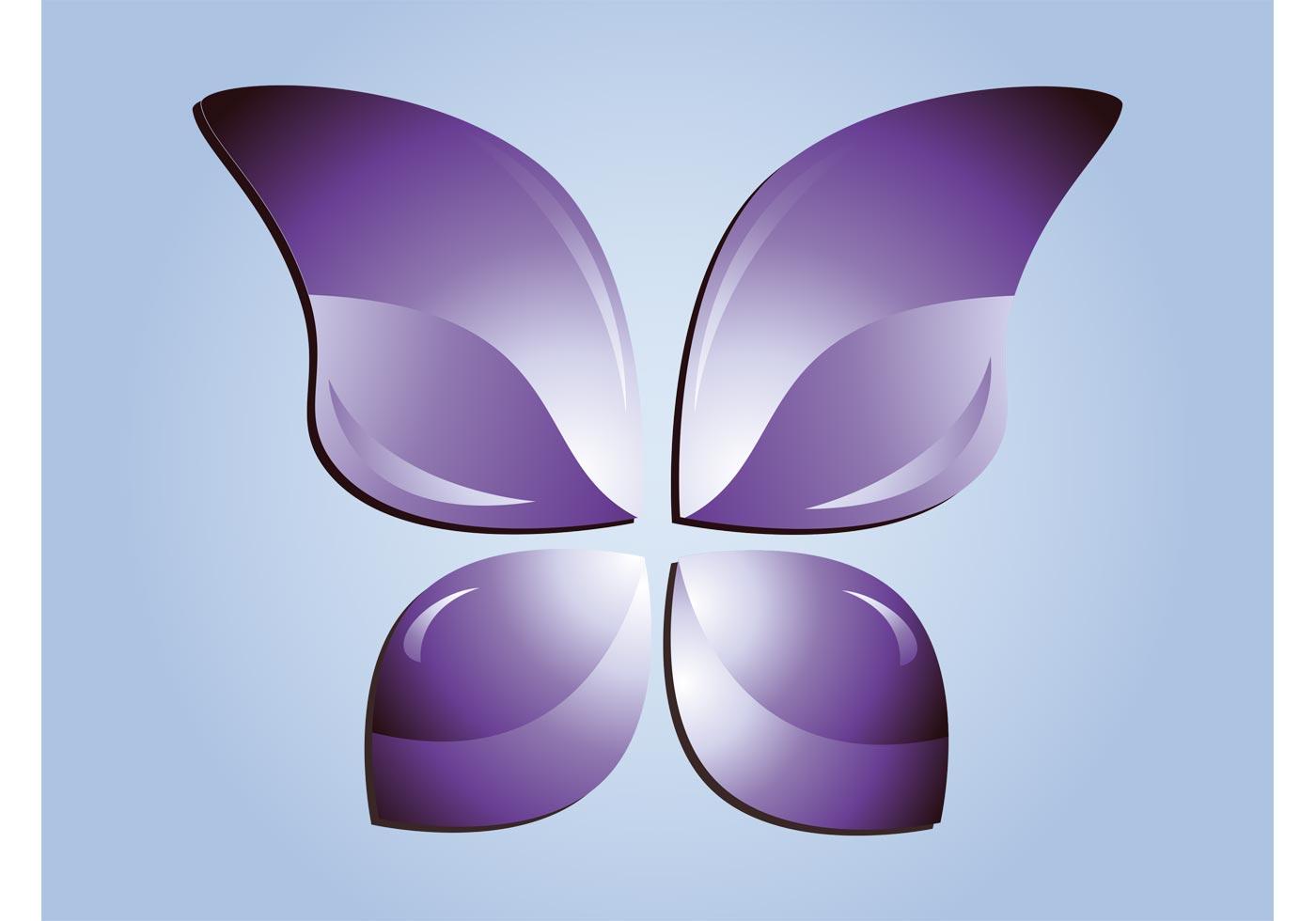 purple butterfly vector download free vector art stock