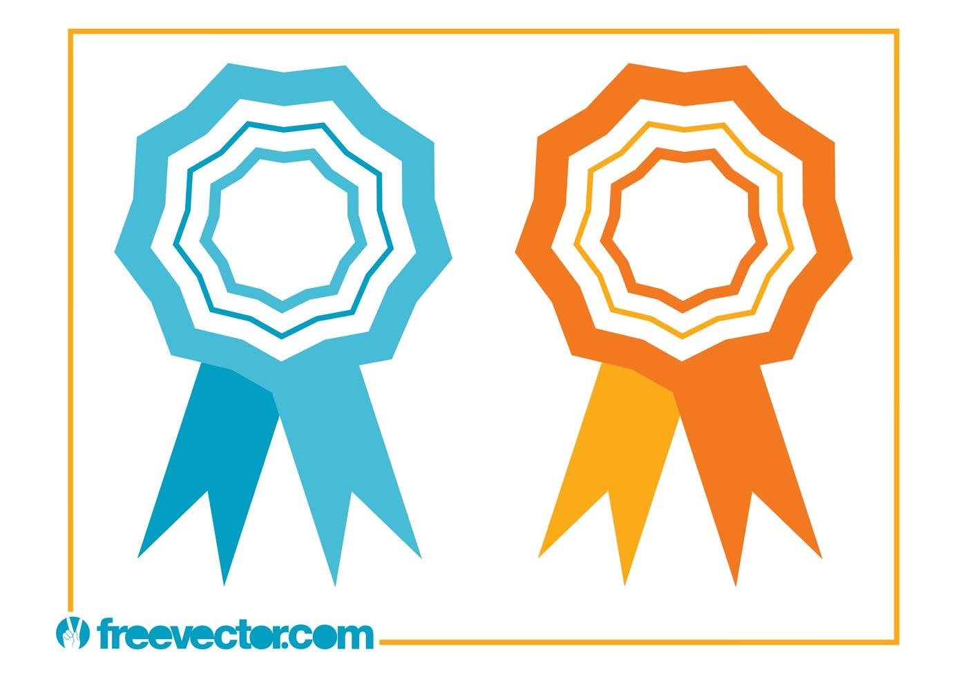 ribbons award icons download free vector art stock