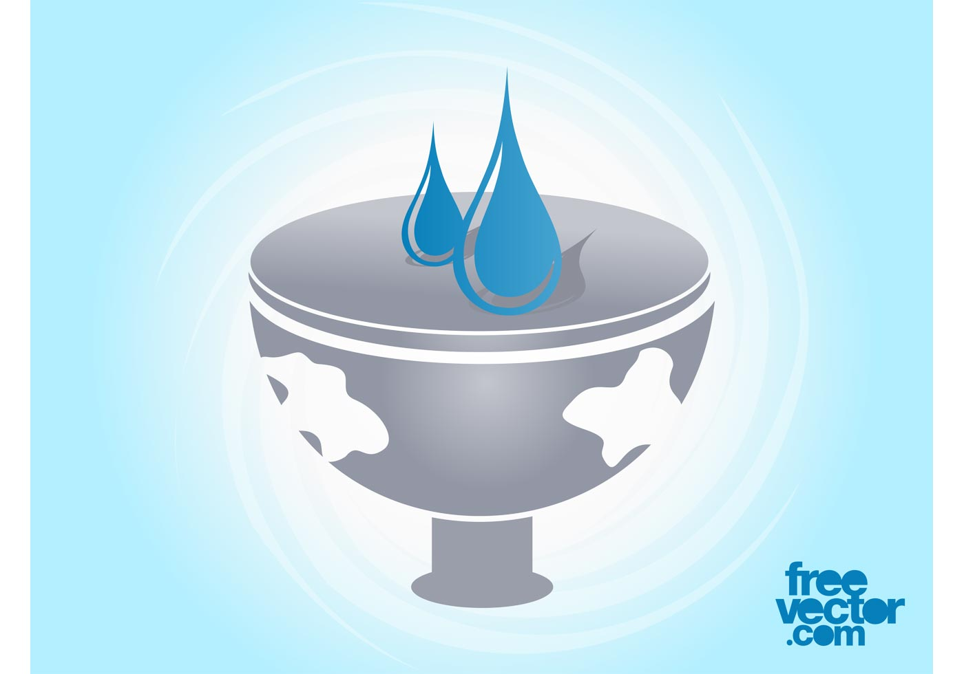 vector water icon