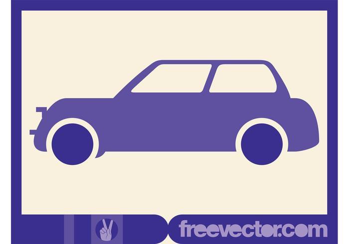 Purple Vector Car