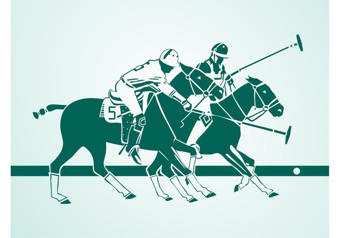 Polo Players Silhouettes