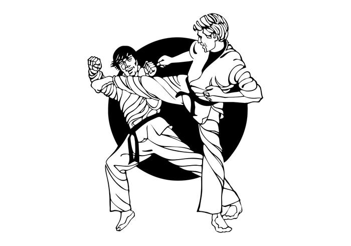 karate fight graphics download free vector art stock graphics