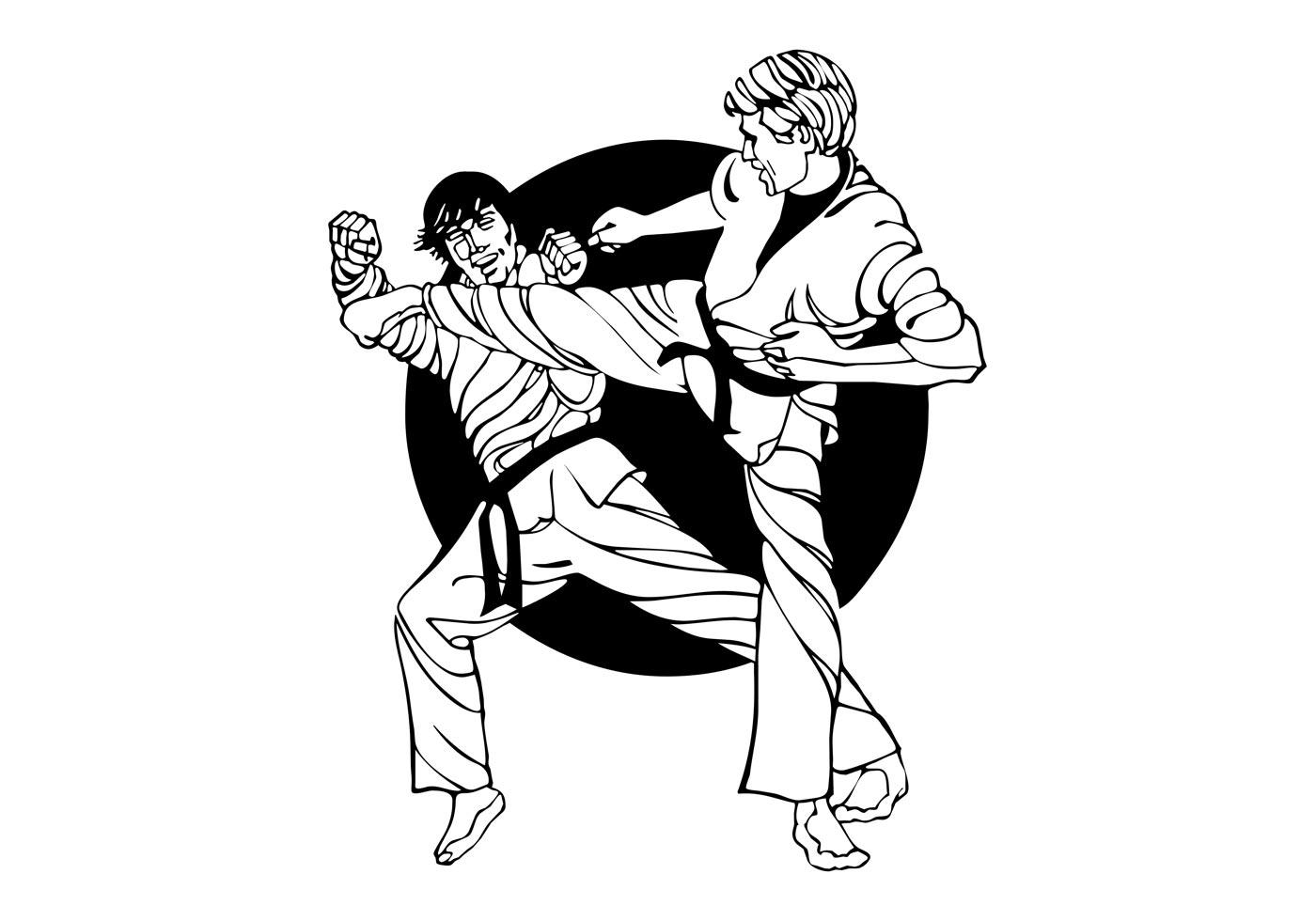 Karate Fight Graphics - Download Free Vector Art, Stock ...