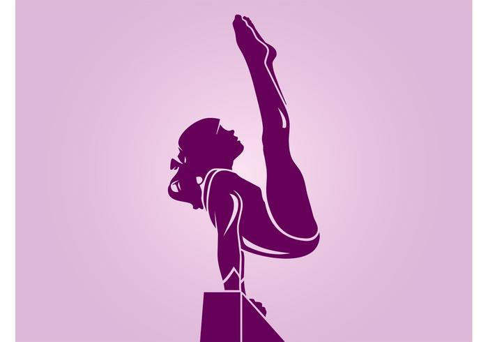 Gymnastics Girl Silhouette