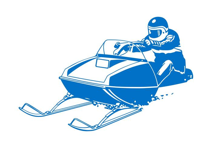 Man On Motorized Sleigh