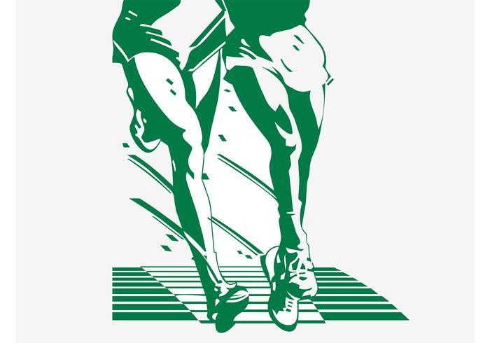 Lopende Legs Illustratie