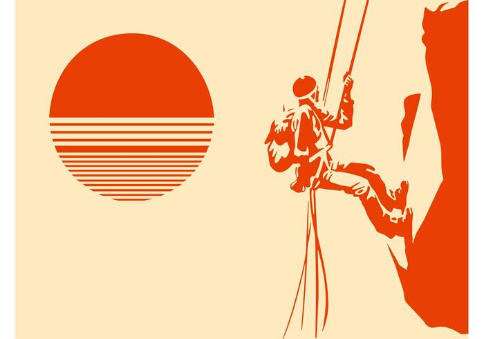 Mountain Climber Silhouette