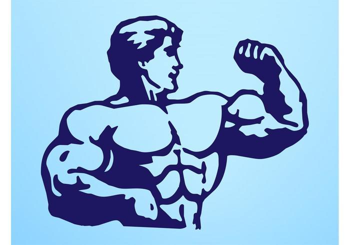Hombre con grandes músculos