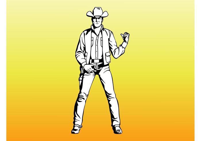 Westelijke Cowboy Portret